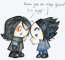 Give Me A Hug, Gerard by Pocket-Sparrow