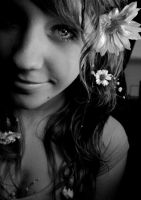 flowers in her hair by LeahNelson
