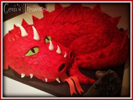 Finley's Red Dragon Cake by gertygetsgangster