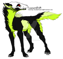 Wolf Lineart Coloring (Death) by FantasyFinale12