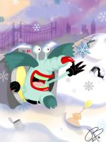 The Gromble Catches a Snowflake by vellapo