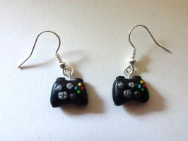 Xbox Controller Earrings by ByToothAndClaw