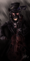Devil cellist by Sander-Morket