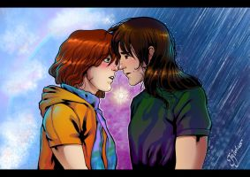 Before the kiss by Igloinor