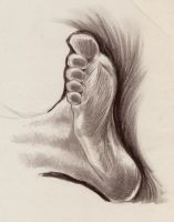 'Life Drawing Foot Study' by TADASHI-STATION