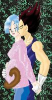 Pregnant Bulma and Vegeta pic by kyllir
