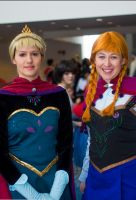 Anna and Elsa by gallopingcowgirl
