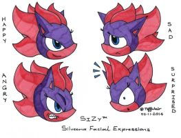 Silveena Facial Expressions by trinityweiss