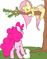Fluttershy the Stuck by Mini-Tea