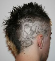 DJ and Stars Hair Etching by Risqtaker