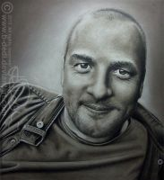 DRAWING (pastel) / PORTRAIT IN UMBRA by b-Dedi