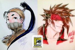 SDCC 01 - Ibuki and Sol by theCHAMBA
