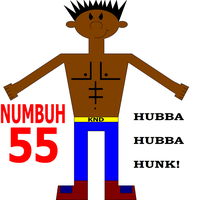 NUMBUH 55 As A Hunk by Flame-dragon