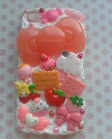 Cute Iphone 4 Case - Bows Cupcakes fruits by Luna-Goodies