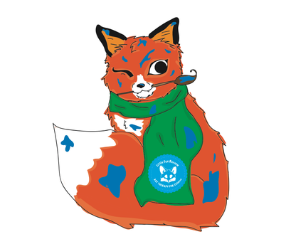 Little Fox the mascot by TheFriendlyAsassin