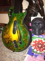 PS3 custom airbrushed guitar... by Silverwolf1969