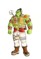Hunter Orc by lord-mondragon