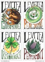 Levitea - Hand-Lettered Labels by emla