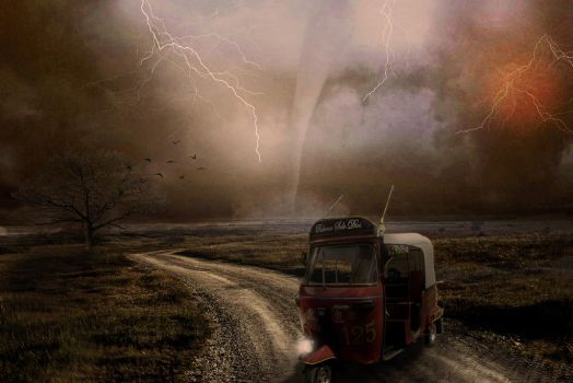 Photomanipulation Powerful Only God by GiacomoBoulanger