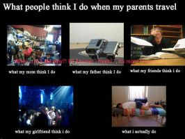 what people think i do when my parents travel by Sonicx1661