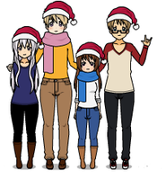 Holiday Group Photo! by TesalecterCaptain1