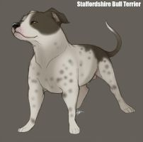 Staffordshire Bull Terrier by Nyaasu