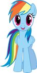 Rainbow Dash Hugs Vector by kittyhawk-contrail