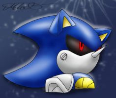 Old Metal Sonic Sketch colo by Metal-CosxArt