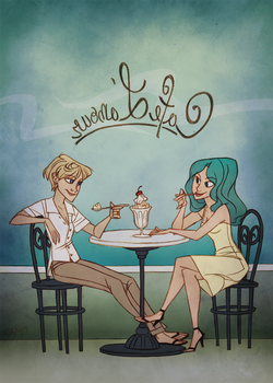 cafe l'amour by taffygiraffe