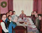 Christmas Dinner 1975 by CarolynYM