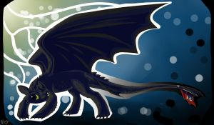 toothless desktop by lupus-miles