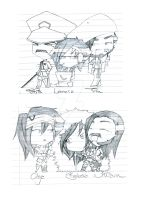 Sketch dump no. 5 YAY CHIBI'S by zimpo
