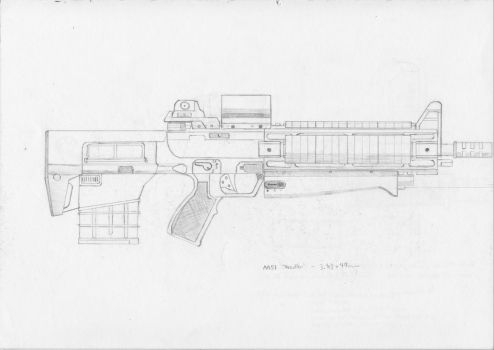 M51 Individual Combat Weapon System - 'Needler' by JordanBookWorm