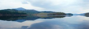 Highlands Loch Panorama by Spyder-art