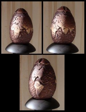 carved wooden egg by EdwardWoodART