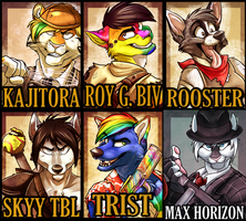 Furry Fiesta 12' Badges Batch 1 by AeroSocks