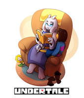 Undertale Fanart Collection 1 :: Reading Time by 7-Days-Luck