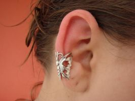 Butterfly Ear Cuff No Piercing by FusedElegance