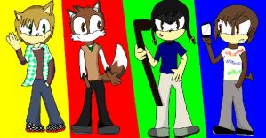 Big Time Rush .:Sonic style:. by SamanthatheHedgehog9