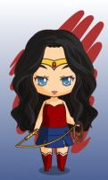 justice league wonder woman chibi style by MAHGOL-DC-LOVER