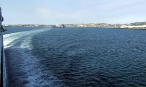 leaving holyhead port ferry by Sceptre63