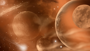 Space in Bronze Wallpaper 3 by WDWParksGal-Stock