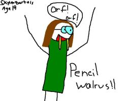 Pencil Walrus - Age 19 by Page21