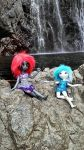 Sophia and Jennifer by the falls by MaliaMaria