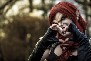 death elf just want hearts by ChrixDesign