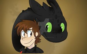 Hiccup and Toothless! by YoshiDreamExplorer