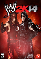 WWE 2K14 Cover ~ Undertaker and Kane by MhMd-Batista