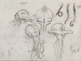 Cthulhu sketches by gooze