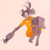 Day 20: Something Orange ~ Chell by bmurai
