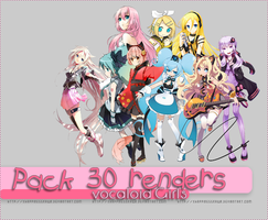 Pack Renders. VOCALOID by xhappinessrawr